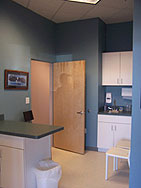 A pet examination room at the Companion Animal Hospital of Milford Connecticut, a complete veterinary practice for all of your veterinary needs